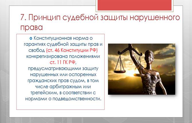 Принцип судебной защиты нарушения права