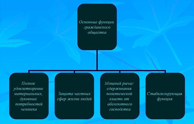 Функции гражданского общества